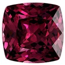 Must See Red Rhodolite Garnet Genuine Gemstone, 3.97 carats, Cushion Cut, 8.8 x 8.7  mm , Must See This Gemstone