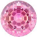 Stunning 3.98 carats Pink Tourmaline Round Genuine Gemstone, 9.5 mm