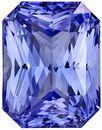 4.36 carats Blue Sapphire Loose Gemstone in Radiant Cut, Cornflower Blue, 9.5 x 7.4 mm