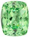 Mint Green Garnet Genuine Gemstone, 4.61 carats, Cushion Cut, 10.6 x 8.4  mm , Gemmy Low Cost Stone