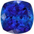 Deal on Genuine Loose Tanzanite Gemstone in Cushion Cut, 9.9 x 9.9 mm, Rich Blue Purple, 4.64 carats