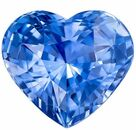 Natural Blue Sapphire Gemstone, 5.1 carats, Heart Cut, 10.75 x 9.62 x 6.74 mm, A Low Priced Gem with GIA Cert