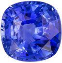 Super Fine 5.17 carats Blue Sapphire Cushion Genuine Gemstone, 10.13 x 10.1 x 5.93 mm