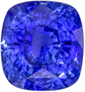 Lovely Brilliant Cushion Shape Blue Sapphire Gem, 5.57 carats, Rich Cornflower Blue, 10 x 9.14 x 6.82 mm, GIA Certified