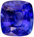 Natural Loose 6.08 carats Blue Sapphire Cushion Genuine Gemstone, 10.72 x 9.93 x 6.33 mm