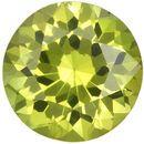 6.3 mm Yellow Chrysoberyl Genuine Gemstone in Round Cut, Greenish Yellow, 1.07 carats