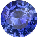 6.5 mm Blue Sapphire Genuine Gemstone in Round Cut, Intense Blue, 1.06 carats