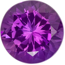 Beautiful 7.33 carats Purple Amethyst Round Genuine Gemstone, 13 mm