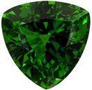 7.4 mm Chrome Tourmaline Genuine Gemstone in Trillion Cut, Grass Green, 1.41 carats