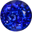 7.9 mm Blue Sapphire Genuine Gemstone in Round Cut, Medium Blue, 2.65 carats