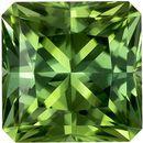 7 mm Green Tourmaline Genuine Gemstone in Radiant Cut, Mint Green, 1.79 carats