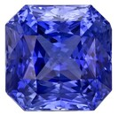 Faceted Blue Sapphire Gemstone, Radiant Cut, 4.22 carats, 8.27 x 8.25 x 6.28 mm , AfricaGems Certified - A Deal