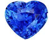 A Beauty of A Gem  Heart Cut Natural Blue Sapphire Gemstone, 2.55 carats, 8.5 x 7.7 mm , Great Ring Gemstone