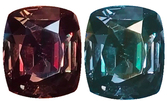 Rare Size Alexandrite GIA Certified 11.39 Carat, Bluish Green to Reddish Purple Color Change, 14.1 x 12.3 mm