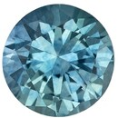 Authentic Blue Green Sapphire Gemstone, Round Cut, 0.52 carats, 4.9 mm , AfricaGems Certified - A Hard to Find Gem