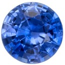 Authentic Blue Sapphire Gemstone, Round Cut, 0.66 carats, 5 mm , AfricaGems Certified - A Hard to Find Gem