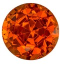 Authentic Orange Spessartite Gemstone, Round Cut, 2.1 carats, 6.8 mm , AfricaGems Certified - A Great Buy