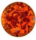 Authentic Orange Spessartite Gemstone, Round Cut, 2.1 carats, 6.8 mm , AfricaGems Certified - A Great Buy