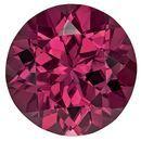 Authentic Rich Rhodolite Gemstone, Round Cut, 2.6 carats, 8.1 mm , AfricaGems Certified - A Hard to Find Gem