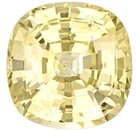 Authentic Yellow Sapphire Gemstone, Cushion Cut, 8.48 carats, 11.9 x 11.69 x 7.22 mm , GIA Certified - A Wonderful Find!