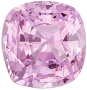 Baby Pink No Heat GIA Certified Pink Sapphire Genuine Gemstone, Cushion Cut, Baby Pink, 6.98 x 6.68 x 4.4 mm, 1.67 carats