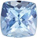 Beautiful Aquamarine Genuine Loose Gemstone in Cushion Cut, 0.99 carats, Vivid Rich Blue, 6.1 mm