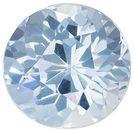 Beautiful Aquamarine Genuine Loose Gemstone in Round Cut, 1.77 carats, Medium Sky Blue, 7.9 mm