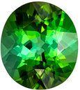 Beautiful Gem in Grass Green Tourmaline Oval Cut, 3.84 carats, 11 x 9.6 mm