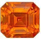 Beautiful GIA Certed Orange Sapphire Gemstone, 2.02 carats, Emerald Shape, 6.52 x 6.06 x 5.13 mm, A Wonderful Find
