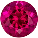 Beautiful Rubellite Tourmaline Gemstone in Round Cut, Rich Reddish Fuchsia, 8.8 mm, 2.64 carats