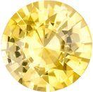 Beautiful Yellow Sapphire Genuine Loose Gemstone in Round Cut, 0.54 carats, Vivid Pure Yellow, 5 mm