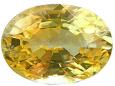 Bright and Intense Oval Cut Yellow Sapphire Gemstone, Oval Cut  1.79 carats