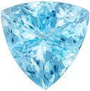 Fiery Aquamarine Genuine Loose Gemstone in Trillion Cut, 3.06 carats, Rich Sky Blue, 10 mm