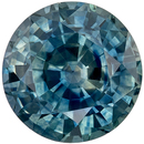 Fiery Loose Blue Green Sapphire Gemstone in Round Cut, 1.24 carats, Teal Blue Green, 6 mm
