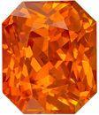 Wonderful Rare Orange Sapphire Genuine Loose Gemstone in Radiant Cut, 2.04 carats, Intense Sunkist Orange, 7.53 x 6.32 mm - GIA Certificate