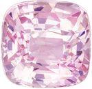 Peach Sapphire Gemstone, Cushion Cut, Vivid Pink Peach, 1.53 carats , 6.1 x 6 mm