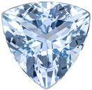 Brilliant Aquamarine Genuine Loose Gemstone in Trillion Cut, 2.35 carats, Rich Pure Blue, 9.0 mm
