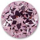 Chatham Lab Pink Champagne Sapphire Round Cut in Grade GEM