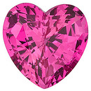 Chatham Lab Pink Sapphire Heart Cut in Grade GEM