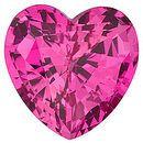 Chatham Lab Pink Sapphire Heart Cut in Grade GEM