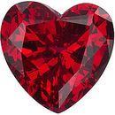 Chatham Lab Ruby Heart Cut in Grade GEM