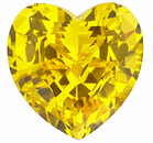 Chatham Lab Yellow Sapphire Heart Cut in Grade GEM