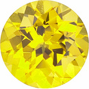 Chatham Lab Yellow Sapphire Round Cut in Grade GEM