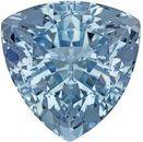 Dazzling Aquamarine Genuine Loose Gemstone in Trillion Cut, 4.18 carats, Intense Pure Blue, 10.5 mm