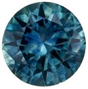 Deal on  Blue Green Sapphire Genuine Gemstone, 0.91 carats, Round Shape, 5.9 mm