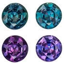 Low Price Color Change Alexandrite Genuine Gemstone, 0.53 carats, Round Shape, 3.7 mm Matching Pair