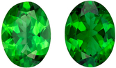 Deal on  Matched Chrome Tourmaline Pair in Oval Cut, 7.9 x 5.9 mm in Gorgeous Rich Grass Green, 2.08 carats
