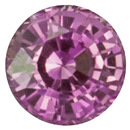 Deal on No Treatment Purple Sapphire Gemstone in Round Cut, 1.33 carats, 6.31 x 6.27 x 4.30 mm Displays Pure Purple Color - GIT Cert