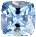 Desirable Aquamarine Genuine Loose Gemstone in Cushion Cut, 0.89 carats, Rich Sky Blue, 6.1 mm