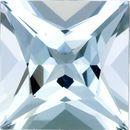 Desirable Aquamarine Genuine Loose Gemstone in Princess Cut, 1.82 carats, Medium Sky Blue, 7.8 mm